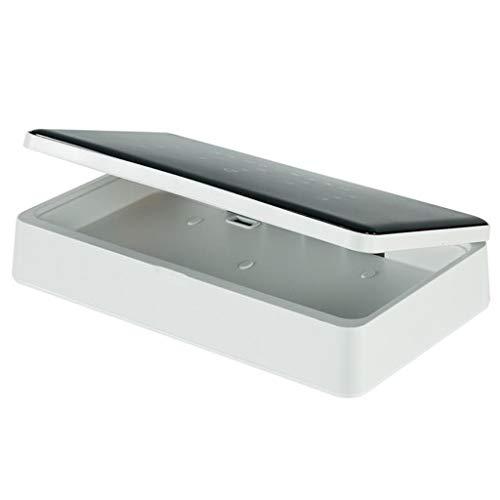 Professionele UVsterilisator Portable UV-licht sterilisator Box, sterilisator Box, Sterilisatie en desinfectie for GSM Key Gadget, USB Charging (Color : Black)