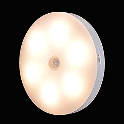 LED Night Light, Cool Stuff Kids Lights, Motion Sensor Lamp Indoor, Baby Must Have Items, Toilet Night Light, Cool New Fun Gadget (Warm White) from Joplay