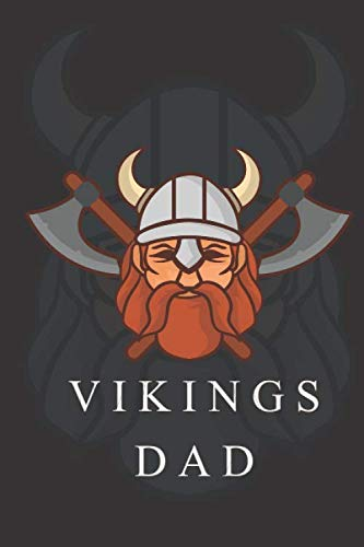 Vikings Dad Line Notedbooks: Fathers Day Gift for Vikings Dad, or In any Special Holidays
