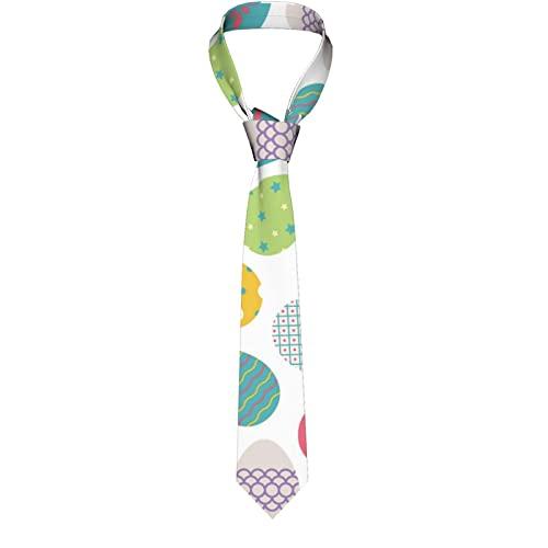 Paedto Corbatas de Hombre, Ideal para Negocios Formales, Bodas, Novios, Actuaciones, Bailes, Regalos, Masculino Negocio Clasico del Banquete de Boda (Huevos de Pascua)-8x145cm