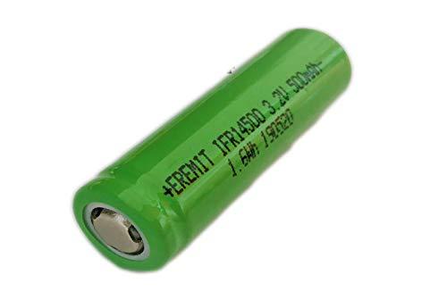 EREMIT Life 14500 Akku LiFePo4 500mAh 3C Lithium Eisen Batterie 3.2 V 50