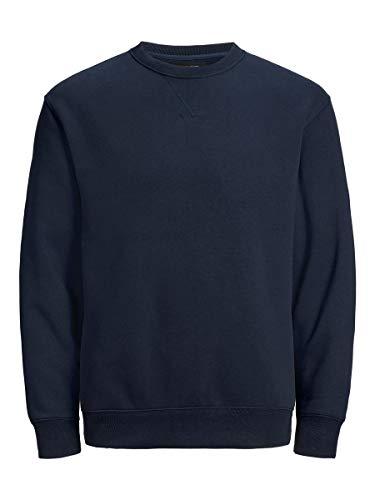 JACK & JONES Male Sweatshirt Schlichtes LNavy Blazer