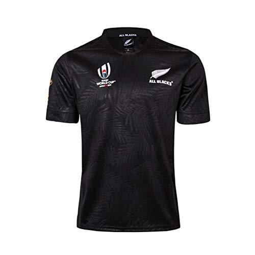 Rugby Jersey Men Nueva Zelanda All Blacks, Camiseta de Entrenamiento de Rugby, Camisa Deportiva