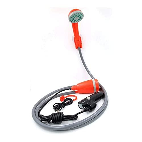JeeKoudy Deportes al Aire Libre Camping Ducha 12V Van eléctrica Lavadora de automóviles Portátil para jardín Lavado de Viaje USB Carga (Color : Red)