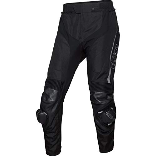 IXS Motorradhose Sport Leder-/Textilhose RS-1000 schwarz/grau 52, Herren, Sportler, Ganzjährig, Leder/Textil