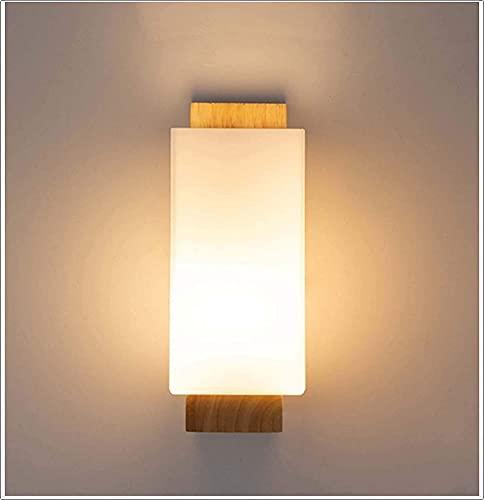 ZGYZ Moderno Minimalista Estilo japonés LED lámpara de Pared de Madera Maciza Dormitorio lámparas de Noche Estudio Sala de Estar balcón Escalera lámpara de Pared