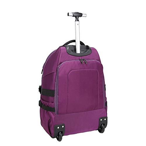 Trolley Zaino Da Uomo E Da Donna Studente Multifunzione Borsa Da Viaggio Business Ultralight Trolley Carrelli Portabagagli (Color : Purple)