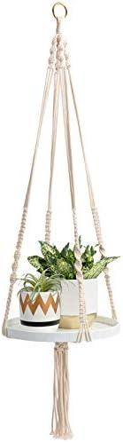 TIMEYARD Macrame Plant Shelf Hangers Indoor Hanging Planter Decorative Pot Holder with Beautiful product image