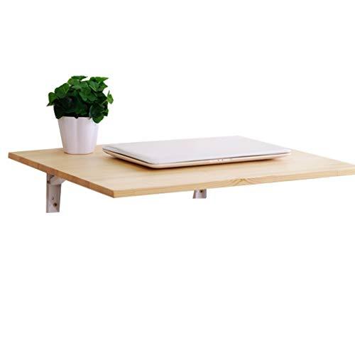 Mesa Plegable de Pared Plegable con 2 Soportes de Metal Cocina de Madera Maciza Comedor Mesa de Estudio Escritorio portátil Plegable para Espacios pequeños Opcional (50x40cm)