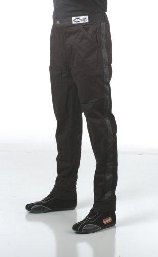 RaceQuip Racing Driver Fire Suit Pants Single Layer SFI 3.2A/ 1 Black Large 112005