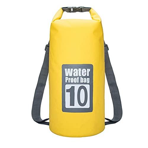 XKJFZ Bolsa Impermeable seco Piscina Mochila 10L con Correa Ajustable para el Kayak canotaje Deriva, del Wet Natación