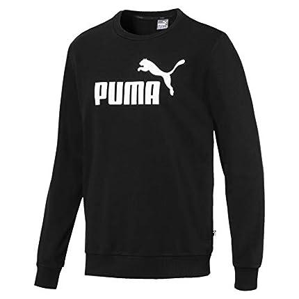 PUMA Essential Crew SWS Big Logo M Sudadera, Hombre, Negro Black, L