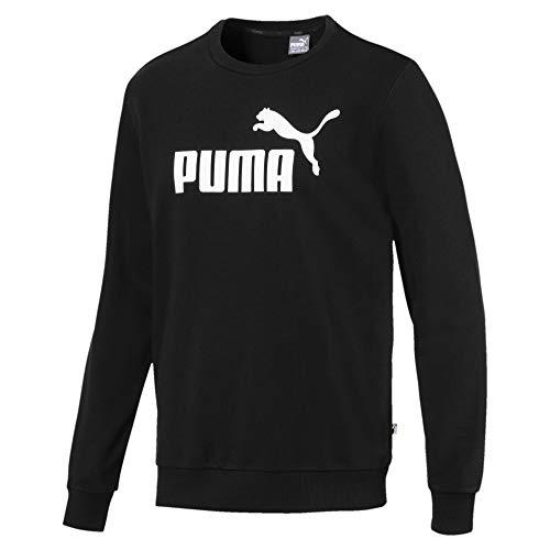 Puma Ess Crew TR Big Logo, Felpa Uomo, Nero Black, S