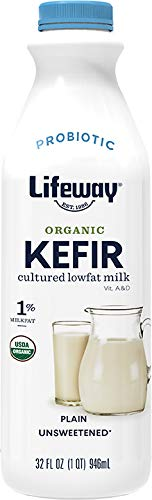Lifeway Organic Probiotic Low Fat Plain Kefir, 32 Ounce -- 6 per case.