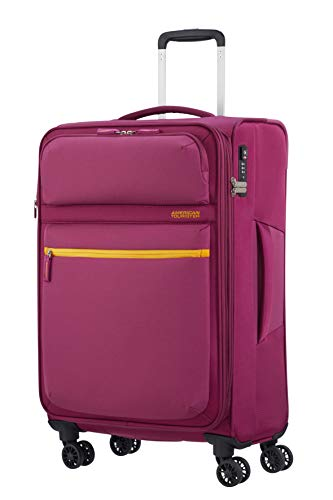 American Tourister Matchup Bagaglio a Mano Spinner M, 68 cm, 78 L, Rosa (Deep Pink)