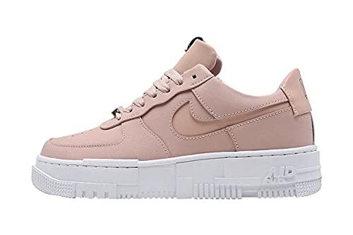 Nike Air Force 1 Pixel Ck6649-200 Damen-Sneaker, Particle Beige/Particle Beige-Schwarz, 38 EU