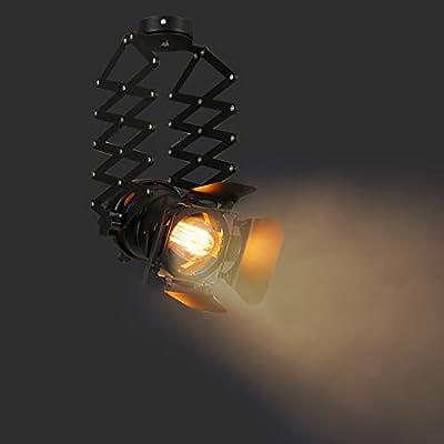 Farmhouse Light Fixture Pendant Lighting for Kitchen Island, Hanging lamp Flush Mount Ceiling Light, Industrial Chandelier Spotlight for Bar Cafe Studio(with no Bulb)