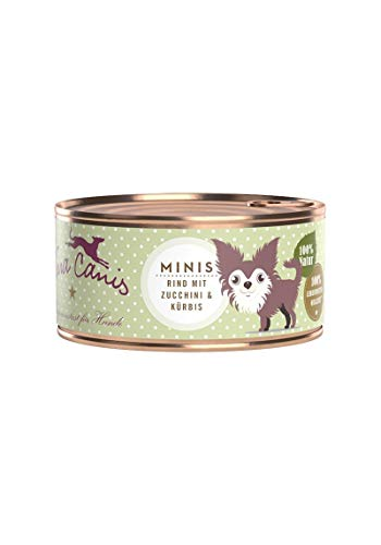 Terra Canis Mini-Hunde Nassfutter I Reichhaltiges Premium Hundefutter in echter Lebensmittelqualität mit Rind, Zucchini & Kürbis I 100g, allergenarm, getreidefrei & glutenfrei