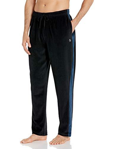 Original Penguin Men's Jogger Lounge Pant, True Black/Blue Wtl, L