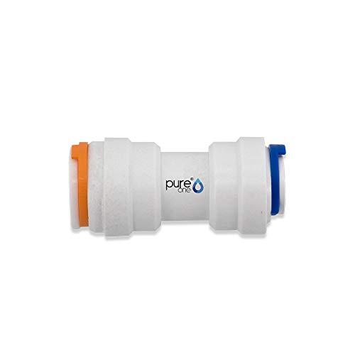 Pure One EFI0608 Quick-Fitting - 1/2 auf 3/8 Zoll Schlauch | I-Form. Ausführung: I-Stück | I-Form. Zubehör für Umkehr-Osmose, Wasser-Installationen