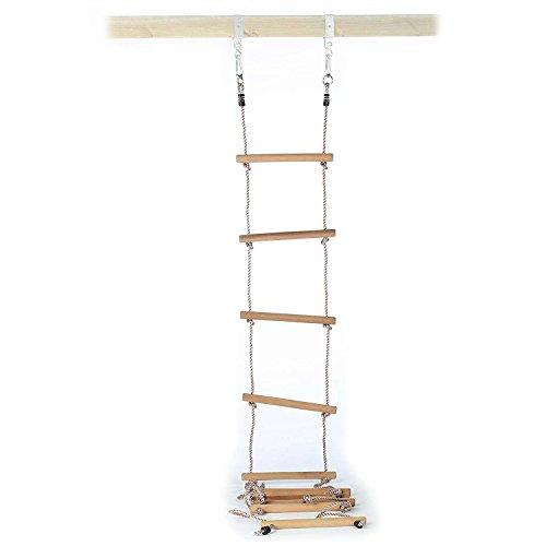 Gartenpirat Strickleiter mit 10 Holzsprossen Länge 350 cm für Kinder