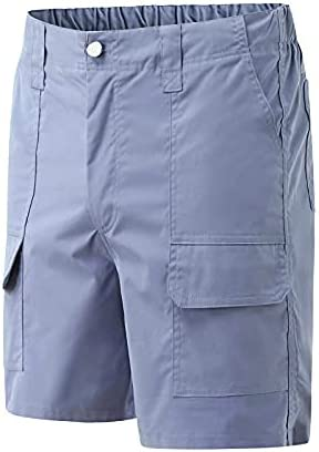 Men's Classic Relaxed Fit Stretch Cargo Shorts Multi-Pockets Cotton Casual Outdoor Lightweight Summer Work Shorts