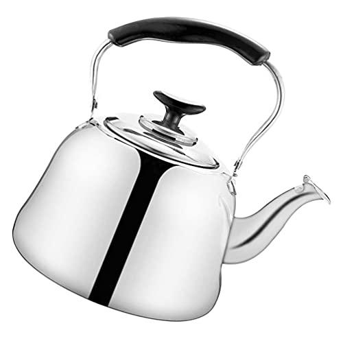 Cabilock Bule de chá de apito para fogão, bule de chá de aço inoxidável de 1,5 l com infusor de chá, chaleira de água quente para chá e café