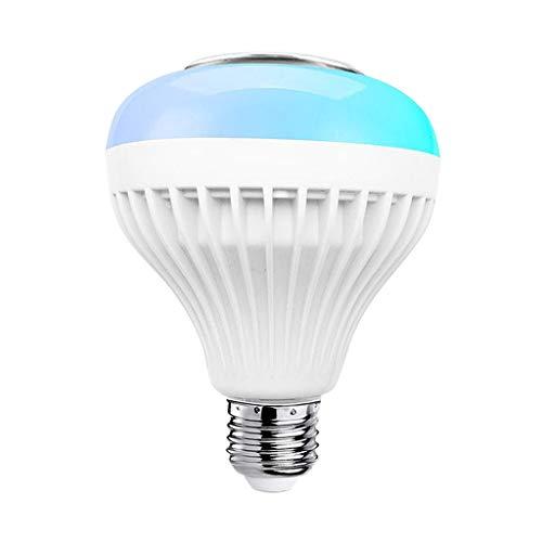 Baoblaze Altavoz de Bombilla Bluetooth, Bombilla Inteligente LED de reproducción de música 12W lámpara de Color cambiante de Base E27 para decoración de Bar - RGB