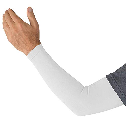 Kinship Comfort Brands® 1 Pair-Arm Compression Sleeves Support for Arm Muscles for Men & Women | Lymphedema | Moisture Wicking Fabric | UV Sun Screen | 1 & 3 Pair | Sizes S,M,L,XL)
