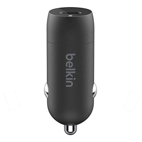 Belkin USB-C Fast Car Charger 20W-Black (iPhone Fast Charger compatible with iPhone 12 Pro Max/12/12 Pro/ 12 mini, Samsung Galaxy S20, S20+, S20 Ultra, Note20, Google Pixel and more)