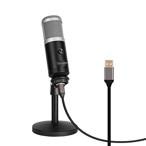 TWDYC Micrófono Profesional de la PC del micrófono de la computadora USB para computadora para computadora portátil teléfono móvil de la grabación de transmisión en Vivo