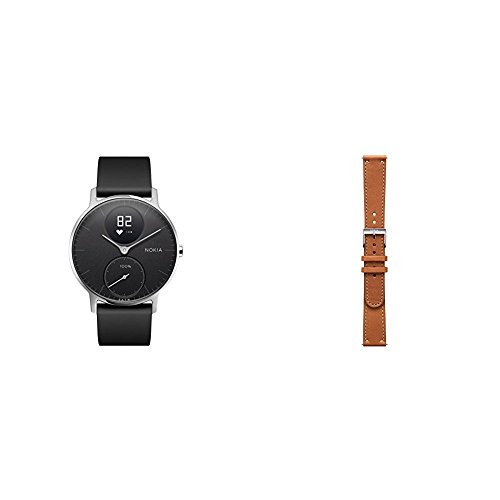 Lowest Price! Nokia Steel HR Heart Rate & Activity Tracking Watch 36mm Black Bundle with An Extra Le...