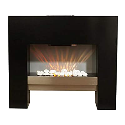 Guaranteed4Less Electric Fire Fireplace Free Floor Standing Surround Flicker Flame Living Room