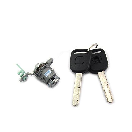 Kinglooyuan LOOYUAN Left Driver Side Door Lock Cylinder Keys For Honda CRV