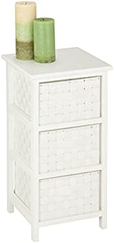 Honey-Can-Do 3-Drawer Natural Wood Frame Storage Organizer Chest