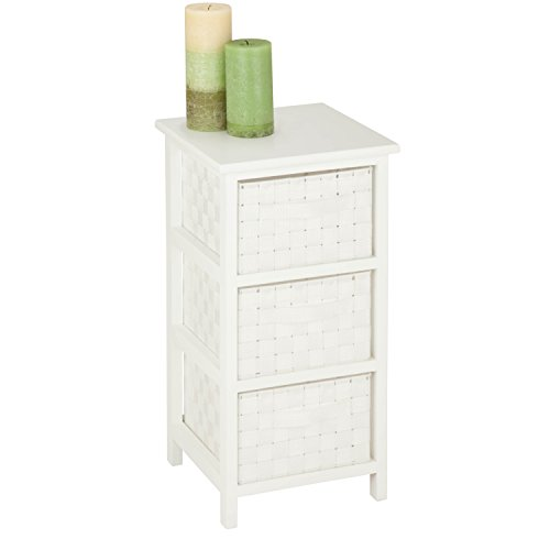 Honey-Can-Do 3-Drawer Natural Wood Frame Storage Organizer Chest (White) $31.40 + Free Shipping