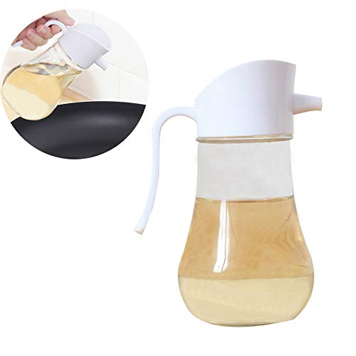 YCKZZR Olijfolie Fles Transparant Glasmateriaal Makkelijk mee te nemen Geschikt voor Vloeibare kruiden zoals olie, azijn en sojasaus (250Ml)