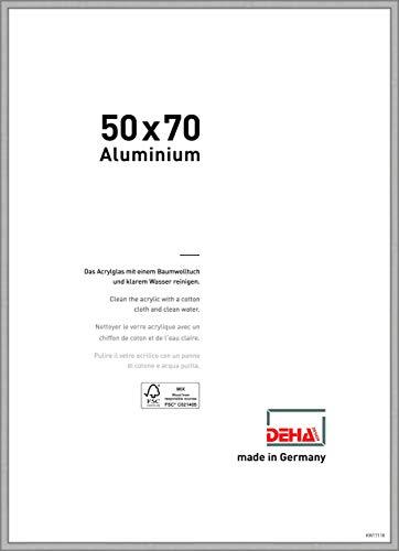 DEHA Aluminium Bilderrahmen Boston, 50x70 cm, Silber Matt