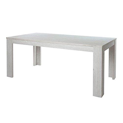 Tousmesmeubles Table de Repas 160 cm - OJI - L 160 x l 92 x H 75 - Neuf