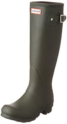 Hunter WOMENS ORG TALL WFT1000RMA-DOV, Damen Gummistiefel, Grün (Dark Olive), 38 EU (5 UK)