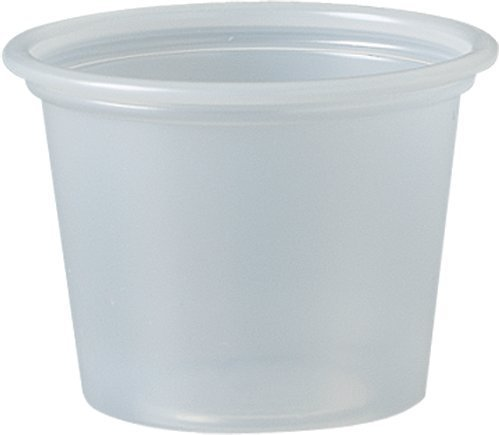 Dart 100PC 1 oz Plastic Souffle Portion Cup, Translucent, 250/Pack