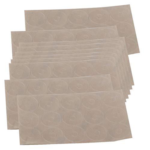 SHTSH Sht Grips Adhesive Antideslizantes for Quilt Plantillas Regla Antideslizantes Adhesivas Anillos, 10 Hojas, 150 Piezas Total Semitransparente
