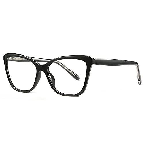 Occhiali Anti Luce Blu,Montatura per Occhiali da Vista Cat Eye Moda Anti-Blu, Montatura per Occhiali da Donna Grigio Rosa, Nero, Taglia Unica
