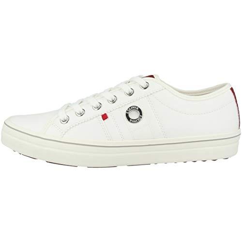 s.Oliver Damen Da-Schnürer Sneaker, Weiß, 37 EU