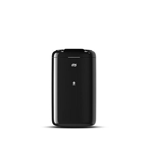 Tork 564008 Cubo de basura con tapa/Papelera Elevation sólida compatible con bolsas de plástico de Tork B3 / 5 litros/Negro