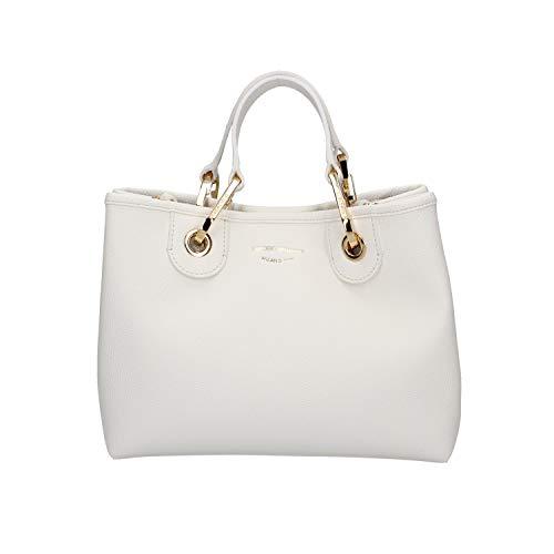 Emporio armani - 88481 shopping bag bianco/cuoio...