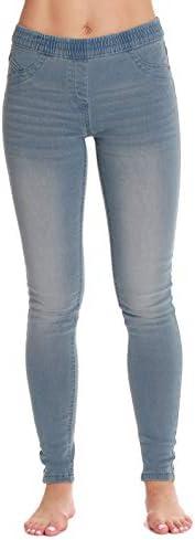 Just Love Denim Wash Jeggings for Women 6775 LTDEN XL product image