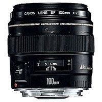 Canon Teleobjektiv EF 100mm F2.0 USM für EOS (Festbrennweite, 58mm Filtergewinde, Autofokus) schwarz