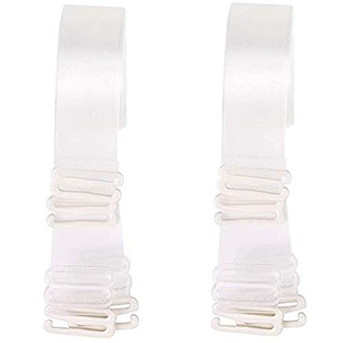 2 pares invisibles suaves transparentes antideslizantes ajustables transparentes de repuesto para el sujetador.
