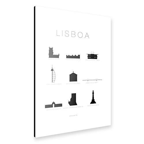 artboxONE Alu-Print 60x40 cm Lisbon von Künstler SCHUMFF